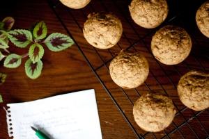 Zucchini-Carrot Spice Muffins (vegan)