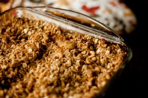 Guilt-free Apple Crisp
